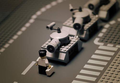 Fotografías clásicas en Lego - Plaza de Tiananmen